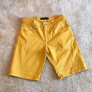 Zara Men's Mustard Yellow Jean Short